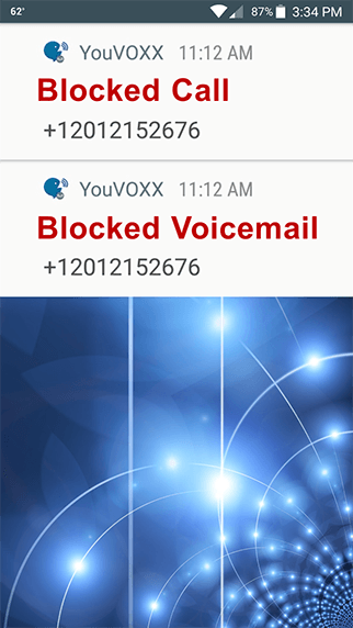 YouVOXX Robocall Blocker screenshot
