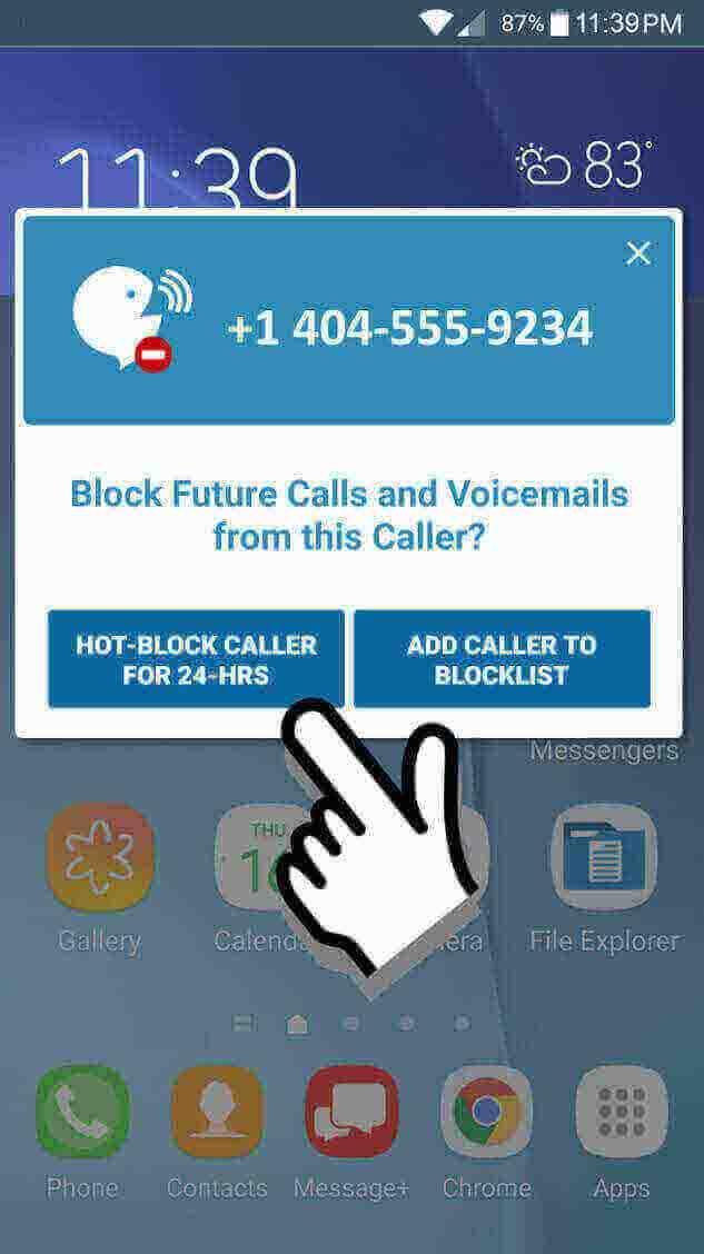 YouVOXX Call Blocker screenshot