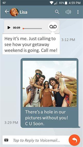 YouVOXX Social Voicemail screenshot