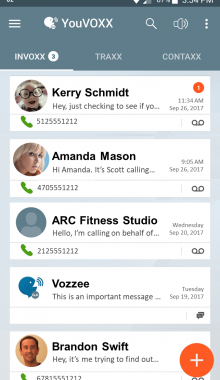 YouVOXX Voicemail app for android screenshot