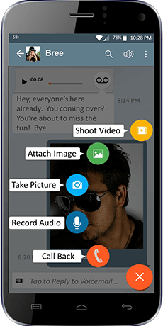 YouVOXX Voicemail to Text app screenshot