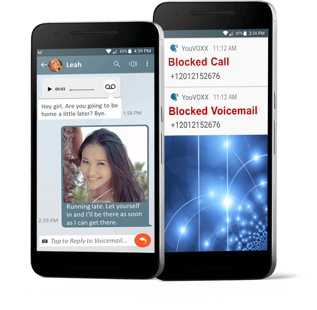 YouVOXX Social Voicemail mobile banner screenshots